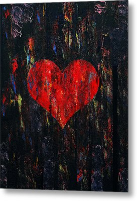 Red Heart Metal Print by Michael Creese
