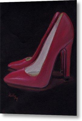 Red Heels Metal Print