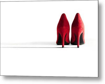 Red High Heel Shoes Metal Print by Natalie Kinnear