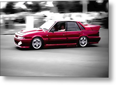 Red Holden Metal Print by Phil 'motography' Clark