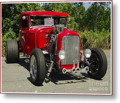 Red Hot Ford Metal Print by James C Thomas