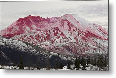 Red Hot St Helen Metal Print by Rich Collins