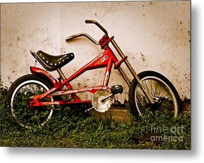 Red Hot Stingray Bike Metal Print by Sonja Quintero