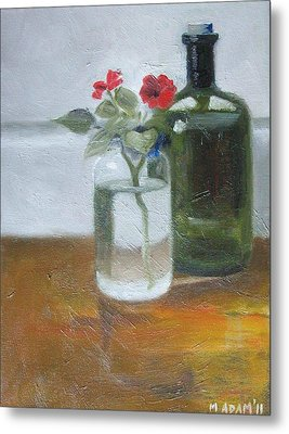 Red Impatiens Metal Print by Mary Adam