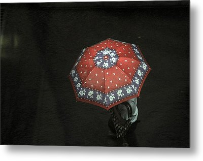 Red In The Dark Metal Print by Achmad Bachtiar
