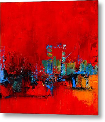 Red Inspiration Metal Print by Elise Palmigiani