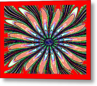 Red Intrusion Metal Print by Bruce Iorio