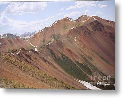 Metal Print featuring the photograph Red Iron Mountain by Arthaven Studios