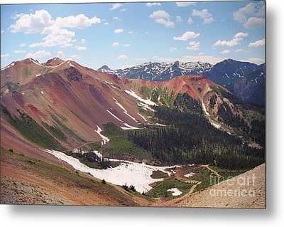 Metal Print featuring the photograph Red Iron Mountain by Teri Brown