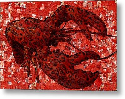 Red Lobster 1 Metal Print by Jack Zulli