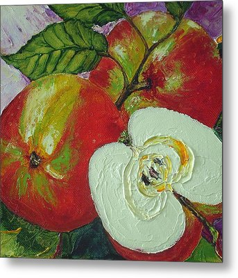 Red Johnagold Apples Metal Print by Paris Wyatt Llanso