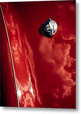 Red Jupiter Sky Metal Print
