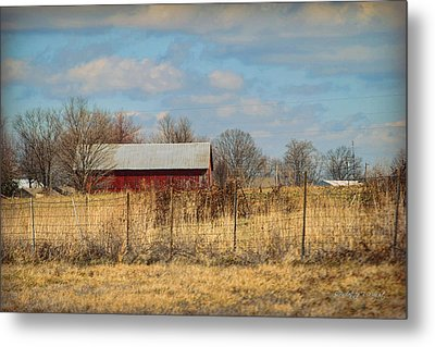 Red Kentucky Relic Metal Print by Paulette B Wright