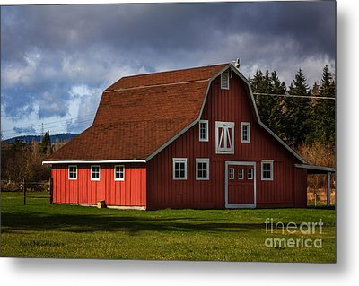 Metal Print featuring the photograph Red Kirsop Barn by Jean OKeeffe Macro Abundance Art