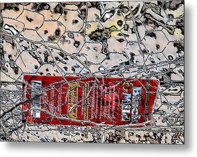 Metal Print featuring the photograph Red Label by Nadalyn Larsen