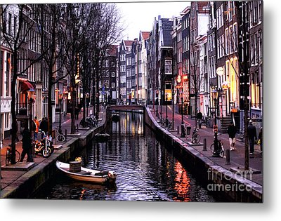 Red Light District Metal Print by John Rizzuto