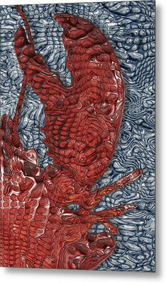 Red Lobster Metal Print by Jack Zulli