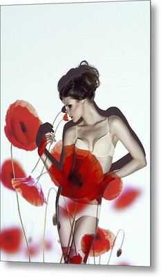 Red Metal Print by Marinastudio