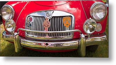 Metal Print featuring the photograph Red Mg Sports Car Canada by Mick Flynn