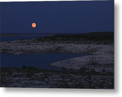 Red Moon Rising Metal Print