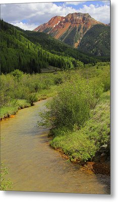Red Mountain Creek - Colorado  Metal Print by Mike McGlothlen