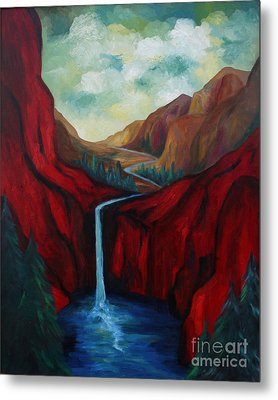 Red Mountains I Metal Print by Larry Martin
