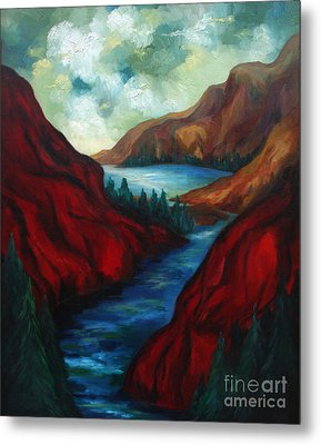 Red Mountains II Metal Print by Larry Martin