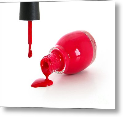 Red Nail Polish Metal Print