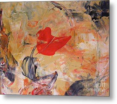 Red Metal Print by Nancy Kane Chapman