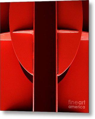 Red Metal Print by Newel Hunter