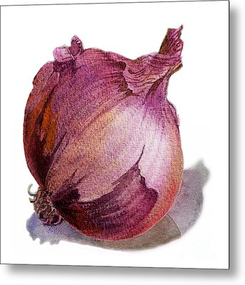 Red Onion Metal Print by Irina Sztukowski