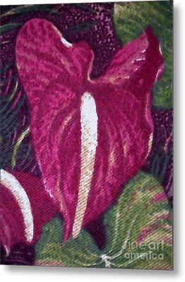 Red Orchid Print Metal Print