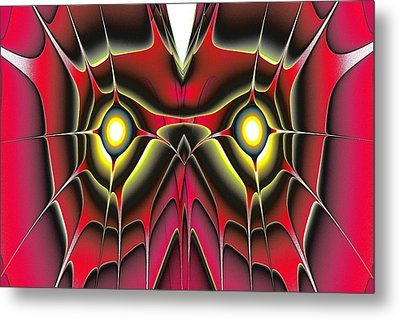 Red Owl Metal Print
