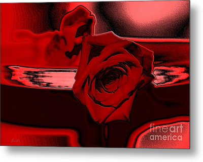 Red Passion. Rose Metal Print