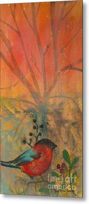 Red Peace Bird Metal Print
