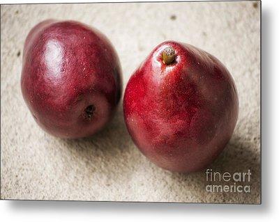 Red Pears Metal Print