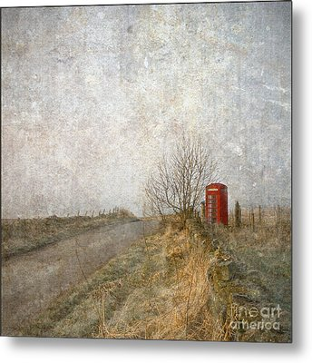 Red Phone Box Metal Print by Liz  Alderdice