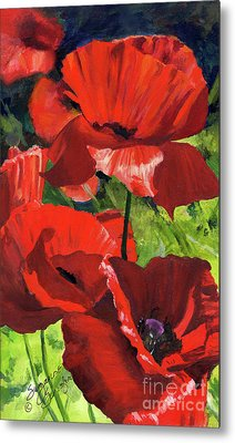 Red Poppies Metal Print by Suzanne Schaefer