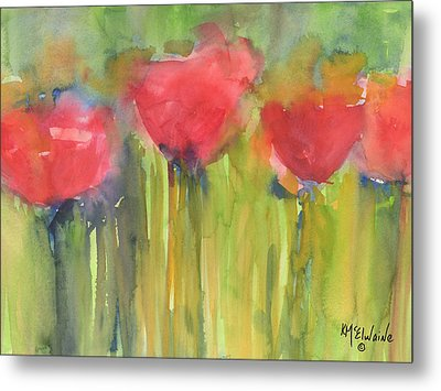 Red Poppy Elegance Metal Print