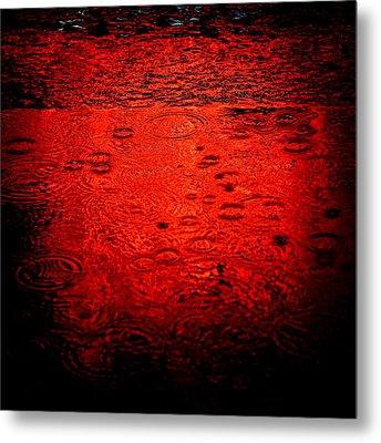 Red Rain Metal Print by Dave Bowman
