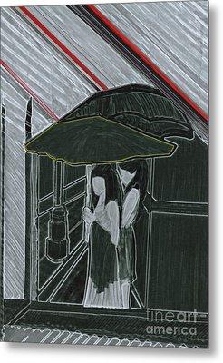 Red Rain Metal Print by First Star Art