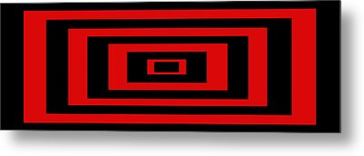 Red Rectangle Metal Print by Mike McGlothlen