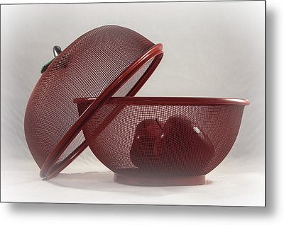 Red Red Apples Metal Print by Judy Hall-Folde