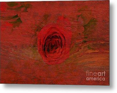 Red Red Rose Metal Print by Kathleen Struckle