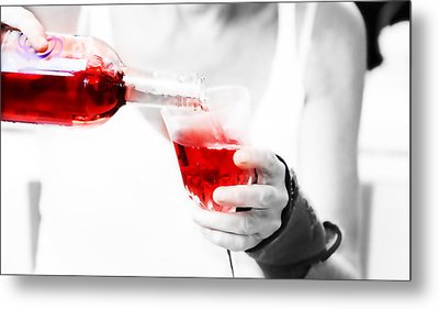 Red Red Wine Metal Print by Jenny Rainbow