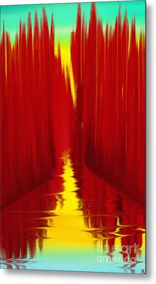 Red Reed River Metal Print by Anita Lewis