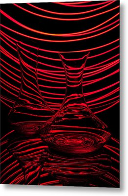 Red Rhythm II Metal Print by Davorin Mance