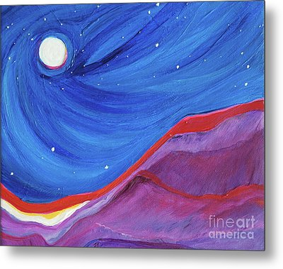Metal Print featuring the painting Red Ridge By Jrr by First Star Art