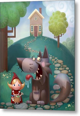 Red Riding Hood Metal Print by Adam Ford