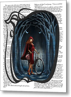 Red Riding Hood Metal Print by Sassan Filsoof